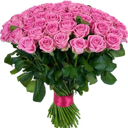 Купить на заказ Букет из 101 розовой розы с доставкой в Шалкаре