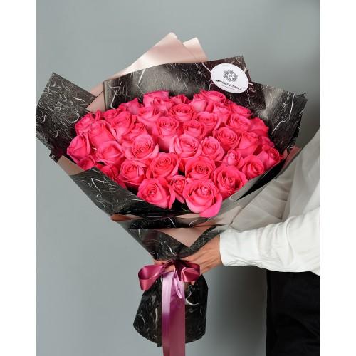 Купить на заказ Букет из 51 розовых роз с доставкой в Шалкаре