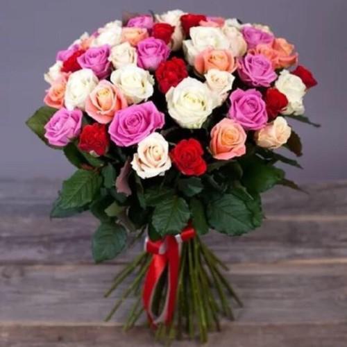 Купить на заказ Букет из 31 розы (микс) с доставкой в Шалкаре